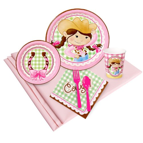 Pink Cowgirl Party Supplies - Party Pack for 16