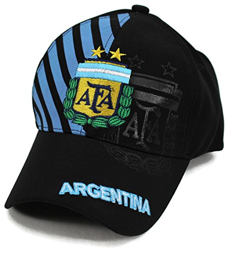 High End Hats World Soccer/Football Team Hat Collection Baseball Cap Flexfit Hat, Argentina with AFA Logo, - Argentina Collection
