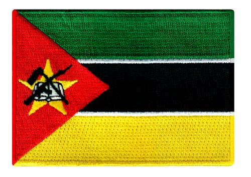 Mozambique Flag Embroidered Patch Africa Iron-On African National Emblem
