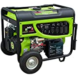 Smarter Tools ST-GP7500SDEB, 6200 Running Watts/7500 Starting Watts, Dual Fuel Powered Portable Generator, CARB Compliant