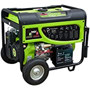 Smarter Tools ST-GP7500SDEB, 6500 Running Watts/7500 Starting Watts, Dual Fuel Powered Portable Generator, CARB...