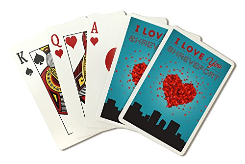 (I Love You Shreveport, Louisiana (Playing Card Deck - 52 Card Poker Size with)