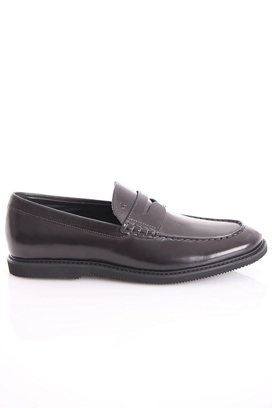 Hogan Loafers IN Black Leather, Hombre. 8,5