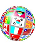 """X24 1.5"""" One World Sphere Flags Cup Cake Toppers Decorations on Edible Wafer Rice Paper"""