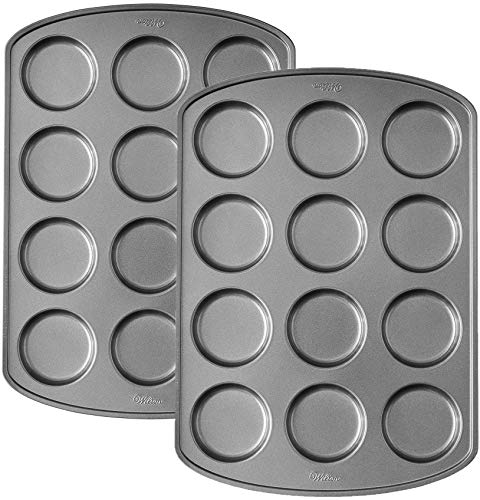 Wilton Premium Nonstick Muffin Top Pan, 12-Cavity(2pk)