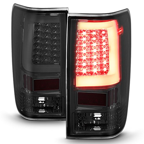 - For 04-15 Nissan Titan Pickup Smoked Lens C-Shape LED Tube Tail Brake Light Lamp Assembly