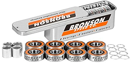 Bronson Speed Co, Next Generation Skateboard Bearings, 8 Count