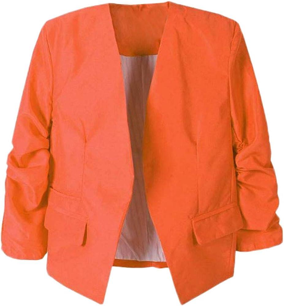 Sinfu Fashion Women OL Style Nine Quarter Puff Sleeve Blazer Elegant Slim Suit Coat