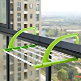 Xwuhan Creative Folding Clothes Rack Out of The Window Rack Sun Balcony Shoe Rack-A
