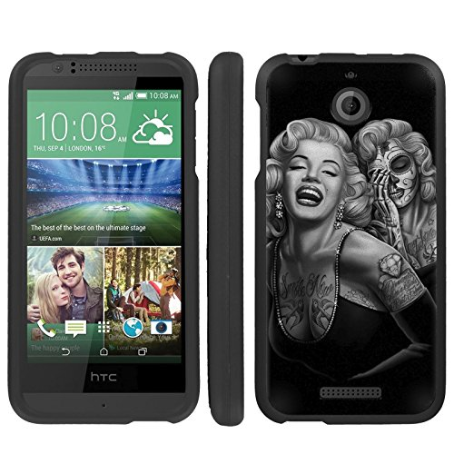 Mobiflare, Slim Guard Armor Design Case, for [HTC Desire 510] - Day of The Dead (Marilyn Phone Desire 510 Htc Case)