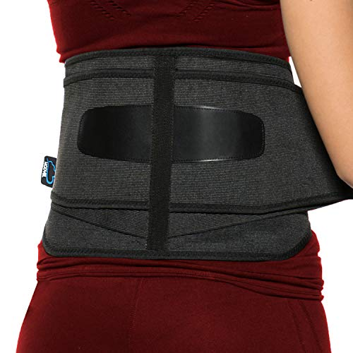 Modvel Lower Back Lumbar Support Brace for Men & Women | FDA Registered | Breathable Fabric with Lumbar Pad | Relieving Back Pain | Great for Employees at Work, Desk Jobs, Standing Jobs (MV-120)