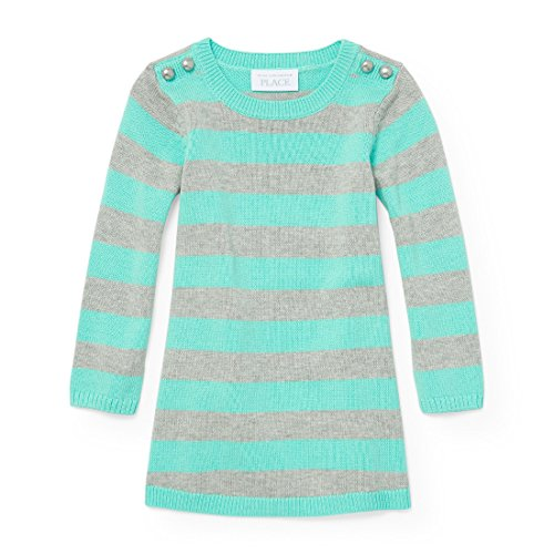 The Children's Place Baby Girls' Long Sleeve Stripe Sweater, H/T Falcon 91264, 12-18MOS -