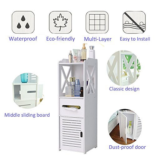 Bathroom Cabinet, Fresh Household Mini Bathroom Shelf to Storage Tissue Dispensers Organizer Rack by Fresh Household (Image #2)