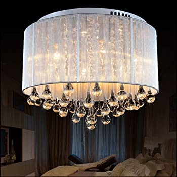 LightInTheBox Modern Romantic K9 Flush Mount in Cylinder Shade, Drum ...