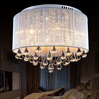 fabulous drum pendant light fixtures living room | LightInTheBox Modern Romantic K9 Flush Mount in Cylinder ...