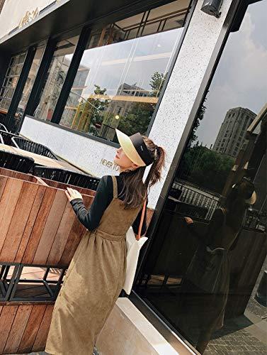 [アンスクリプト] レディース コーデュロイ エプロン ワンピース ロング ストラップ ドレス 3色展開 (カーキ、ベージュ、ブラウン)