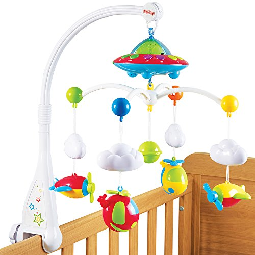 Nuby Musical Cot Mobile With Colour Changing Wall Ceiling Starlight Projection Buy Online In