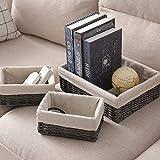 Hosroome Handmade Storage Basket Set Shelf