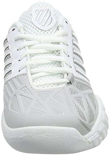 Performance 3 EU Bigshot Swiss K de Femme Tennis White Blanc Chaussures Light Silver Carpet Hxwq15ZIqC