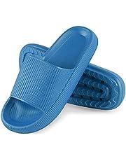 MoneRffi Pillow Slides Slippers Cloud Ultra-Soft Pool Slippers Anti-Slip Open Toe Massage Slippers Bathroom Unisex Shower Slide Sandals Summer Slippers for Women Men
