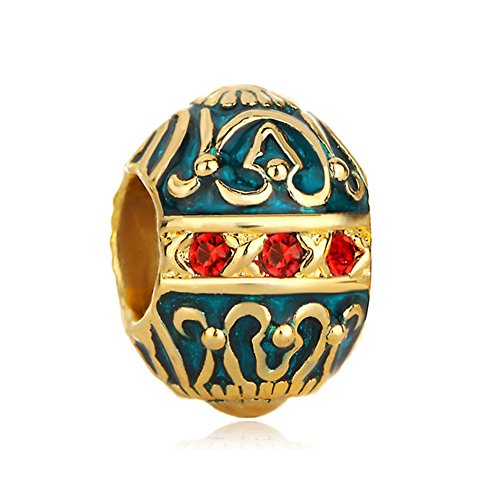 - LilyJewelry Faberge Easter Egg Charm Beads For Bracelets