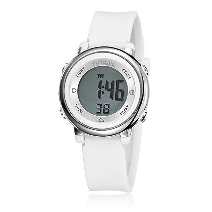 5aafaf31e8a5 PIXNOR Chicas de múltiples funciones resistente al agua luz de fondo  pantalla cuarzo reloj deportivo OHSEN