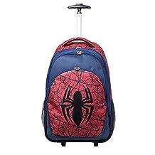 Official Marvel Ultimate Spider-Man Logo Trolley Backpack Weekend Bag