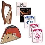 Homeschool Music Melody Harp & Baby Harp Bundle w/Mega Book Pack #1