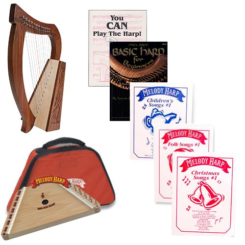 Homeschool Music Melody Harp & Baby Harp Bundle w/Mega Book Pack #1 by Homeschooling Harps
