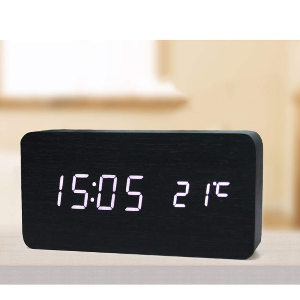Reloj Silenciosa Despertador Creativo Noche Electrónico 7yb6gf