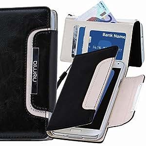 Diseño Original Numia Luxus funda tipo libro Sony Xperia E3 negro-blanco estilo y, nuevo
