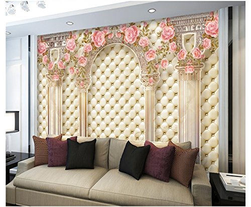 Mznm 3D European Style Mural Photo Wallpaper Luxury Roman Pillars Soft Pack Tv Sofa Background Wall Home Decoration Painting -200X140Cm by Mznm (Image #2)