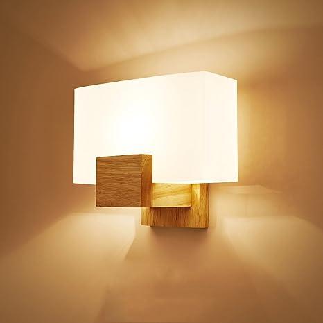 Pumpink Applique da parete in legno massello di Victoria Applique cinese  creativa moderna semplice lampada da parete corridoio Europa settentrionale  ...