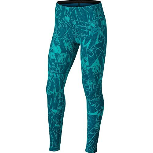 Nike Girls Sportswear Mashup Printed Tights (Blustery/Turbogreen, S)