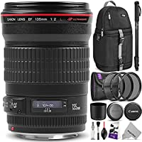 Canon EF 135mm f/2L USM Lens w/Advanced Photo and Travel Bundle - Includes: Altura Photo Sling Backpack, Monopod, Camera Cleaning Set