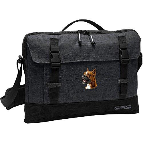 Cherrybrook Dog Breed Embroidered OGIO Apex 15 Slim Case - Heather Gray - Boxer