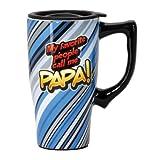 Spoontiques Favorite People Call Me Papa Travel Mug, Blue