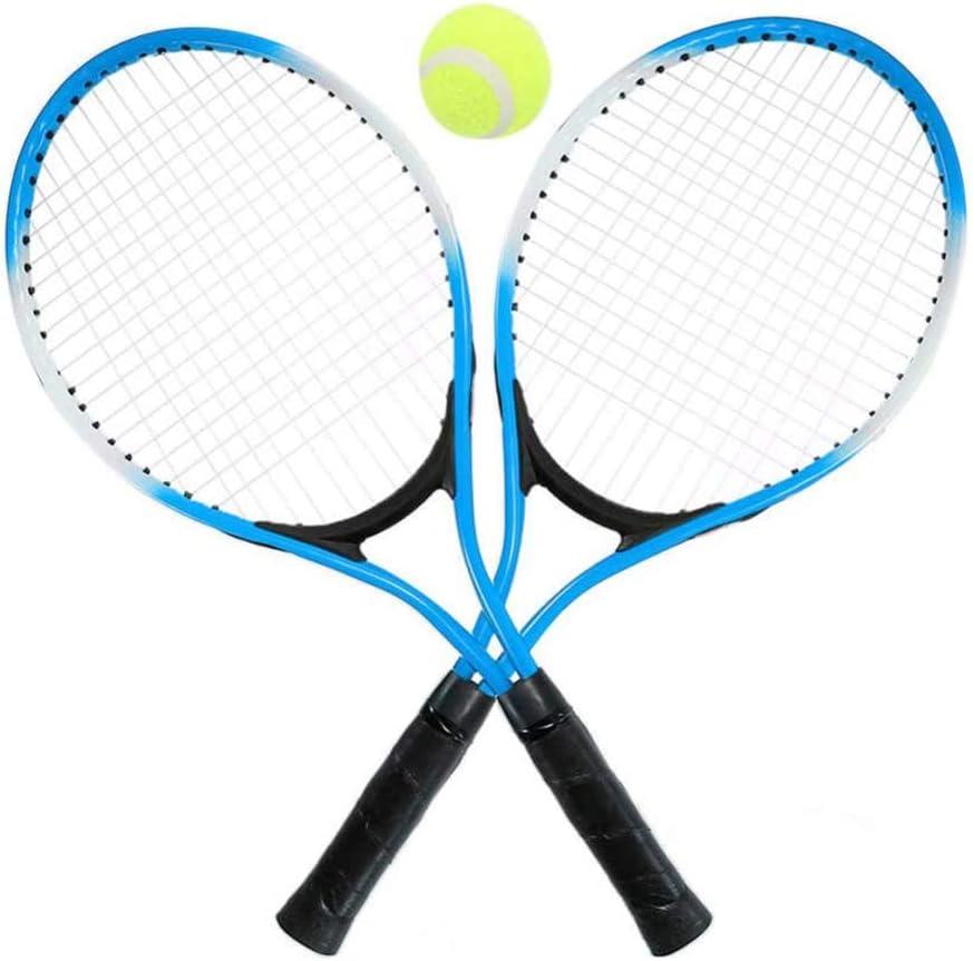 YYDM Las Raquetas De Tenis Set 1 Par De Niños - Deportes Al Aire Libre Juguetes del Portátil para Principiantes Raquetas/Niños (Azul) / Versatilidad De Estabilidad, para El Estadio Y Al Aire Libre