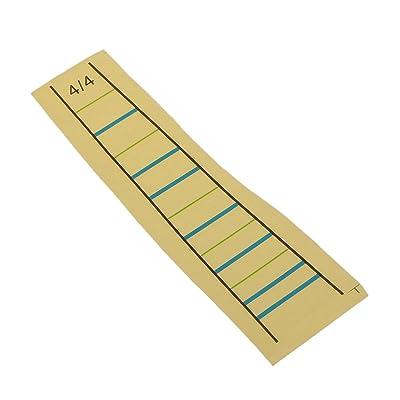 4/4 Violín Estudiante Marcador Dedo Diagrama de Diapasón del Violín Pegatina Ayudas el Aprendizaje: Instrumentos musicales