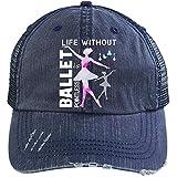 Life Is Pointe-less Hat, Without Ballet Trucker Cap (Trucker Cap - Navy)