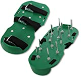 Lawn Aerator Shoe | 3 Straps With Strong Metal Buckle | Heavy Duty Spikes | Foot Sandal Set for Aerating Your Lawn or Garden