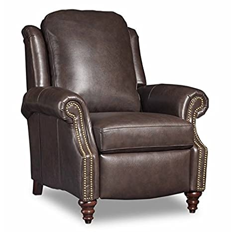 Groovy Amazon Com Bradington Young Hobson Leather Recliner In Dark Onthecornerstone Fun Painted Chair Ideas Images Onthecornerstoneorg