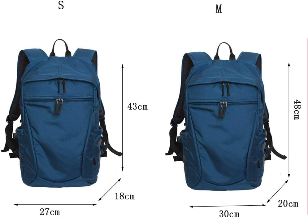 Compatible for DSLR//SLR Mirrorless Cameras and Accessories Professional Camera Case Backpack Camera Bag with Rain Cover Tripod Holder Color : Blue, Size : M