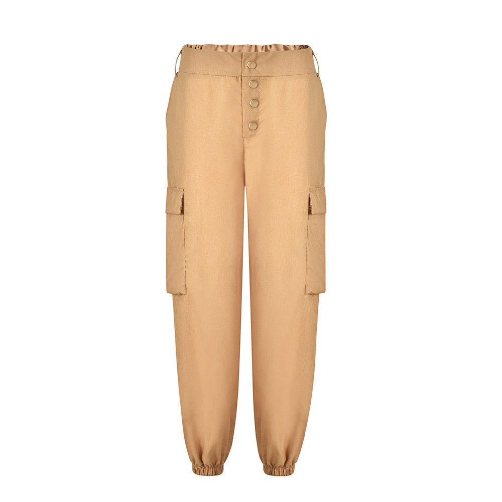 YWLINK - Pantalon de Sport - Jambe Droite - Uni - Femme YWLINK-PANTS