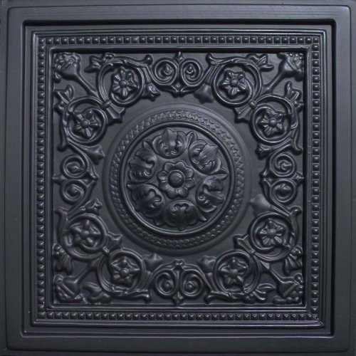 Majesty Black 24x24 Ceiling Tile