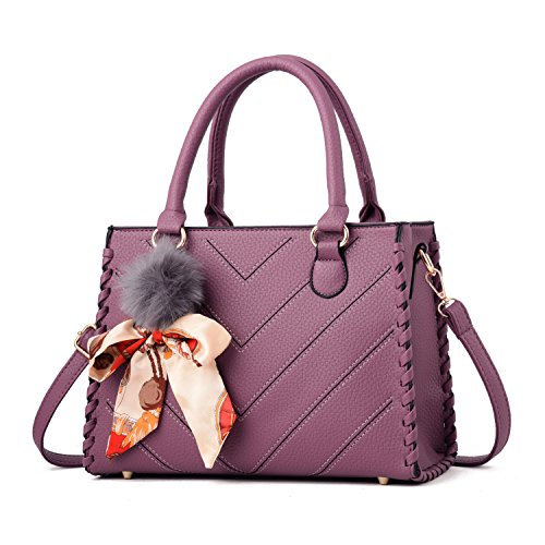 Handle Bag and Handbags Top Tote Violet ACLULION Satchel Shoulder stripes Large Purses Womens v Bag xTZvF