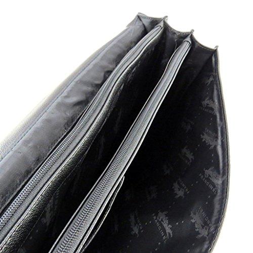 Aktentasche aus leder 'Lafayette'schwarz (3 falten).