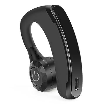 Auricular Bluetooth 4.1, UKXHY Manos Libres Bluetooth Auriculares Cancelación del Ruido Auricular Inalámbrico con Micrófono Integrado para Móvil iPhone ...