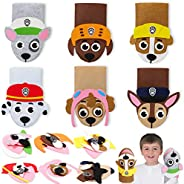 TICIAGA 6pcs Paw Dog Patrol Hand Puppet Making Kit for Kids, Sock Puppet Kit for Toddlers, Paw Dog Felt Puppet