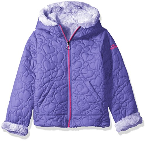 Toddler Reversible Jacket (Pacific Trail Toddler Girls' Quilted Jacket Reversible To Tie-Dye Faux Fur, Lavender, 2T)